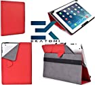 RED 10 Case Cover Tablet Folio May Fit HTC Jetstream , HTC Quattro *Bonus Ekatomi Screen Cleaner