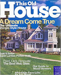 This Old House Magazine December 1999 No 34 Donna Ed