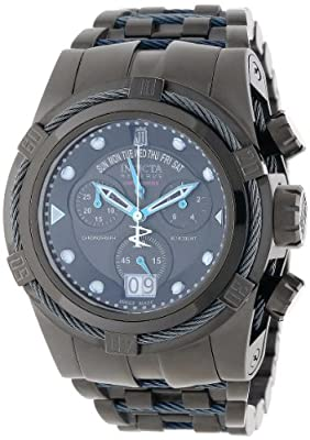 Jason Taylor for Invicta Collection 12951 BOLT Zeus Chronograph Black Dial Black Ion-Plated Stainless Steel Watch