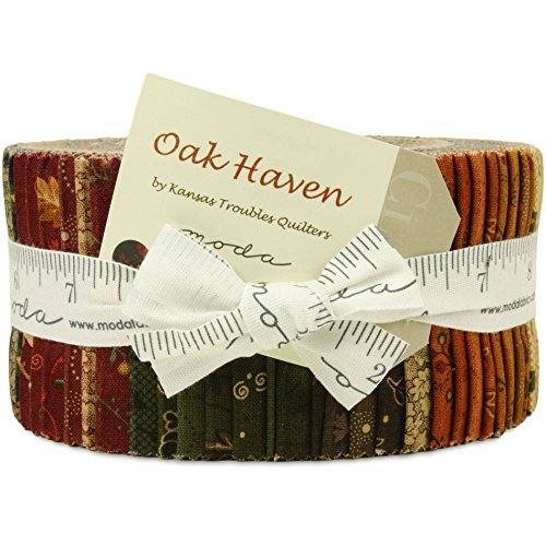 Moda Oak Haven Jelly Roll by Kansas Troubles Quilters (Moda Jelly Rolls For Quilting compare prices)