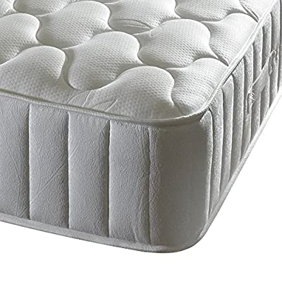 Happy Beds Forest Dream 3000 Pocket Sprung Memory Foam Mattress with Bamboo Yarn Fabric, White