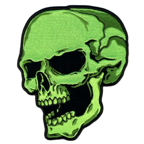 Hot Leathers Green Skull Left Patch (3