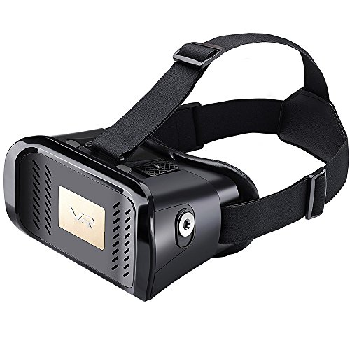 Aerb 2016 Newest Version Google Cardboard 3D VR Virtual Reality Glasses Headset W Adjustable Head Band Strap for 3.5 to 6.0 Inches Smartphones [3D Movies / Immersive VR Gaming]