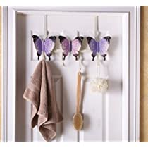 Decorative Butterfly Over The Door Hooks By Collections Etc