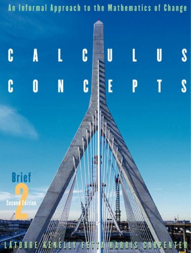 Calculus Concepts: An Informal Approach to the Mathematics of Change, Brief Second Edition