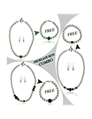 Pearlz Ocean Miss Holly Shell Pearl Necklace Combo Set Of Three