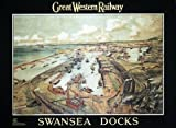 Swansea Docks (old rail ad.) fridge magnet (se)