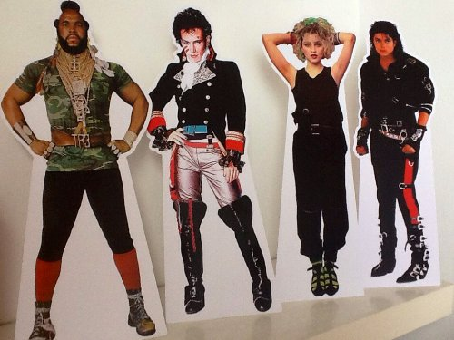 80s Pop Stars Mini Stand-Ups - Party Decoration