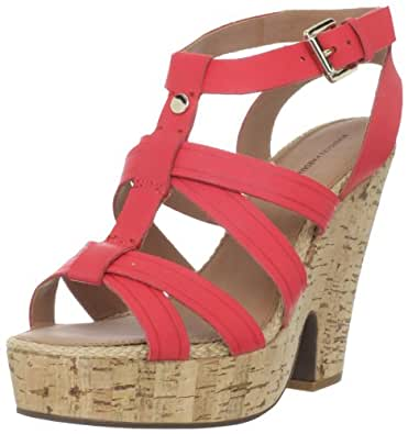 Madison Harding Women's Osmond Platform Sandal,Red,5 M US