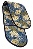 William Morris Chrysanthemum blue oven gloves