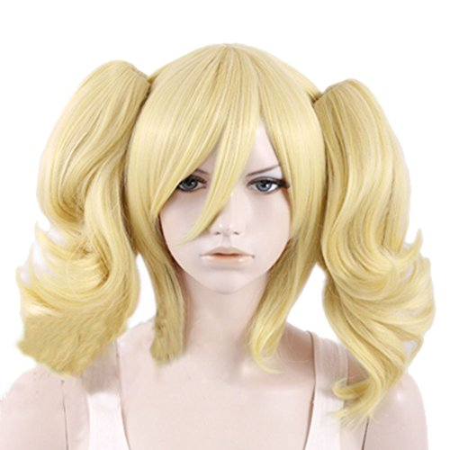 Harley Quinn Wig Cosplay Costume Yellow Accessories Halloween Coslive (Harley Quinn Arkham City Halloween Costume)