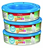 Playtex Diaper Genie Refill (810 count total - 3 pack of 270 each) Amazon Frustration-Free Packaging
