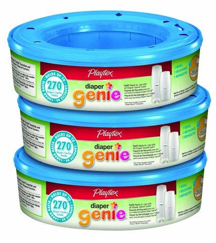 Playtex Diaper Genie Refill (810 recuento total - 3 paquetes de 270 cada uno) - La frustración Amazonas Libre de embalaje