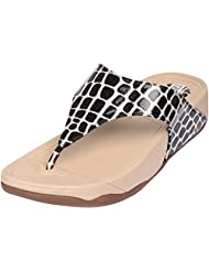 B-sign Women's Black Synthetic Slip-On Sandal
