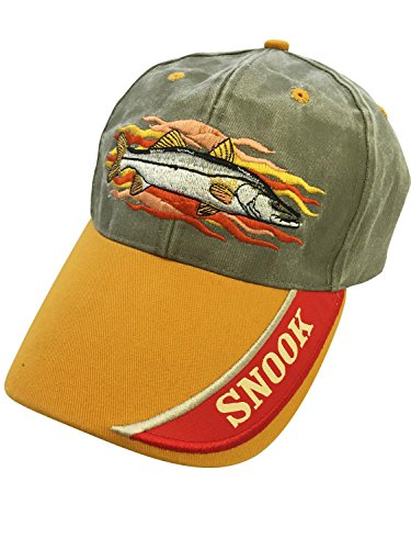 SNOOK EMBROIDERED FISH BASEBALL CAP (Salt Life Snook compare prices)