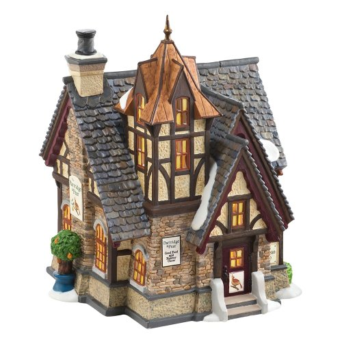 Department 56 Dickens Village The Partridge and Pear Lit House, 7.68-Inch department 56 colonial williamsburg village lit house taliaferro cole house