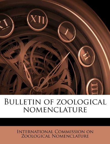 Bulletin of zoological nomenclatur, Volume Vol 1
