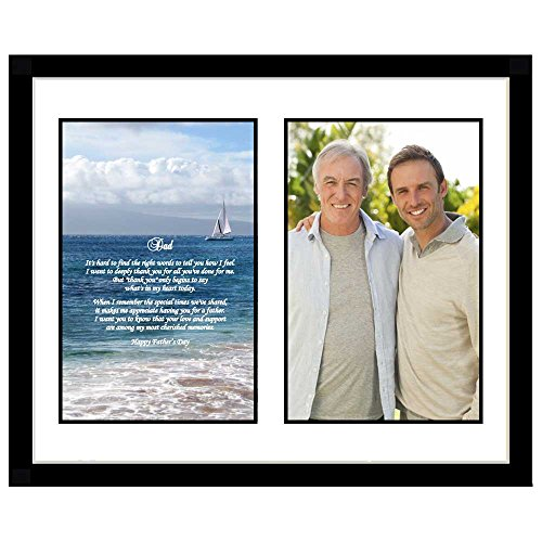 Birthday or Christmas Gift for Dad in Frame with Poem Photo Mat - Add Photo