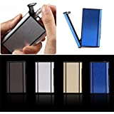 Generic As Picture : High Quality 1 PCS Aluminum Pocket Cigarette Case Automatic Ejection Holder Metal Box New...