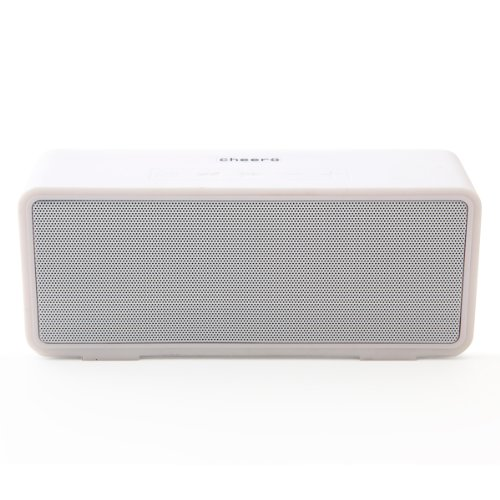 cheero SOUND GARDEN (White) [Bluetoothワイヤレススピーカー 内臓電池/ハンズフリーマイク搭載]