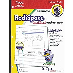 Mead RediSpace Transitional StoryBook Paper, 10.5 x 8 Inches, 50 Count (48020)