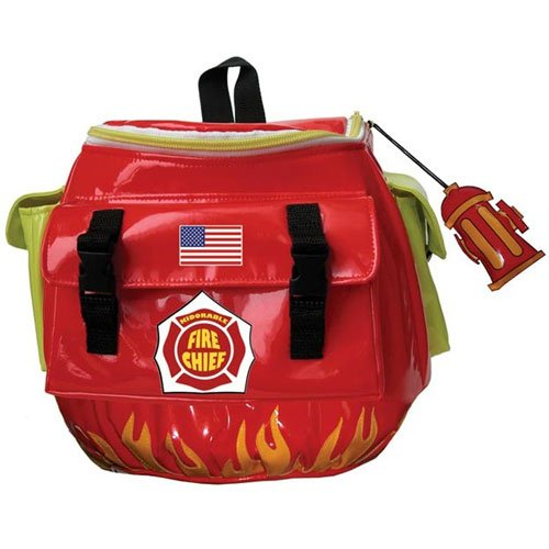 Kidorable Fireman Backpack, Red, One Size - 1