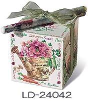 リゾムデザイン◆とってもキュートなキューブ型◆お花のデザインがセンスあふれるメモキューブ・ペン付き ベジタブルガーデン