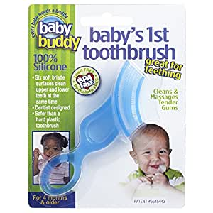 Baby Buddy Baby's 1st Toothbrush, Blue