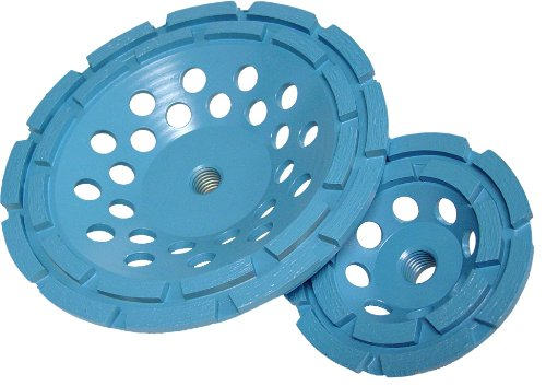 Diamond Products Core Cut 90193 7-Inch by 5/8-Inch 11 Star Blue Spiral Turbo Cup Grinder with 12 Segments