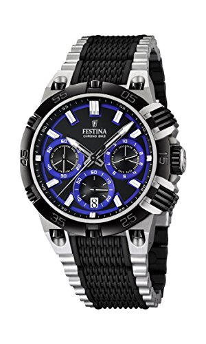 Festina Herren-Armbanduhr XL Chrono Bike 2014 Analog Quarz verschiedene Materialien F16775/5