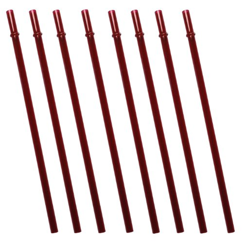Red Replacement Acrylic Straw Set Of 8, For Tumblers 16Oz, 20Oz, 24Oz