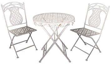 JJ International 3 Piece Rosa Series Bistro Patio Furniture Set