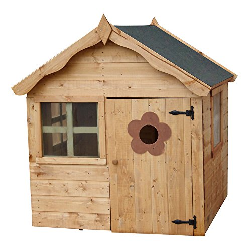 4x4 wooden kids playhouse childrens daisy shiplap for Childrens wooden house