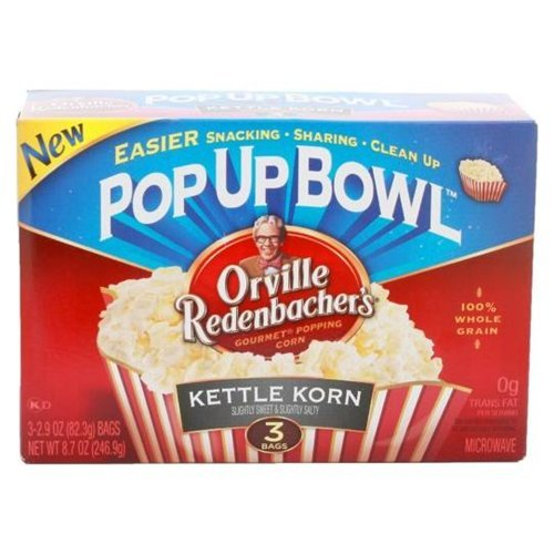 Orville Redenbacher's Microwave Popcorn in Pop Up Bowl, Kettle Korn, 3 Count (Pack of 12) (Orville Redenbacher Popcorn Salty compare prices)