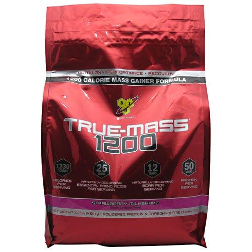 BSN Sports BSN - True-Mass 1200 Ultra-Premium Super Mass Gainer Strawberry Milkshake - 10.25 lbs.