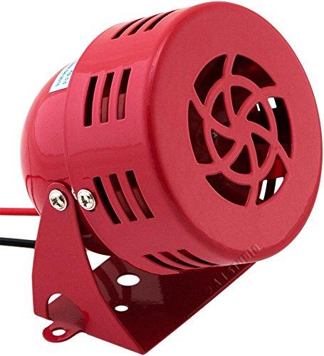 Vixen Horns Loud 110dB Electric Motor Driven Horn/Alarm/Siren (Air Raid) Small/Compact Red 12V VXS-9050C