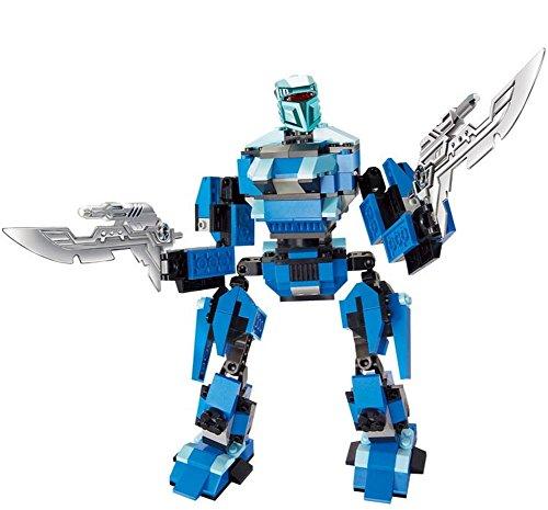 Briques jouets en plastique 5-6-7 Ans Boy Assemblage Robot Intelligence Toy - B