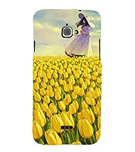 Beautiful Girl 3D Hard Polycarbonate Designer Back Case Cover for InFocus Bingo 50