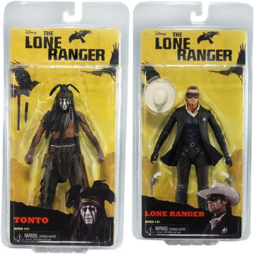 "Lone Ranger Series 1 7"" Action Figure Set of 2"