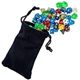 Easy Roller Dice Polyhedral Dice for Dungeons and Dragons and Math Dice Games, 105 Pieces, 15 Complete Sets with Dice Bag, Color may vary