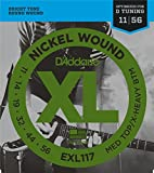 D'Addario EXL117 XL Nickel Wound Medium Top/Extra Heavy Bottom  (.011-.056) Electric Guitar Strings