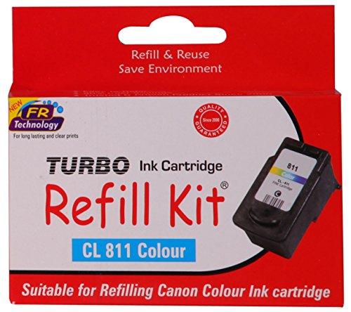 Turbo ink Refill Kit for Canon CL 811 Colour Ink Cartridge  available at amazon for Rs.483
