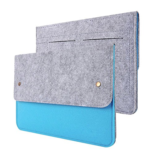 Happy Hours - 13 Inch Ultra Thin Eco Felt Bag Cover for Apple MacBook iPad Air, MacBook Pro / Premium Slim Netbook, Laptop, Notebook, Computer Protective Sleeve Case(Blue) (Computer Key Board Cover compare prices)