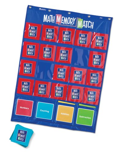 Learning Resources Math Memory Match Pocket - 1