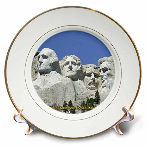 Sandy Mertens South Dakota - Mount Rushmore, South Dakota - 8 inch Porcelain Plate (cp_55329_1)