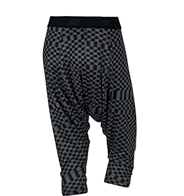 Nike Women's Dri-Fit Printed Tadasana Ikat Training Capris-Black/Gray