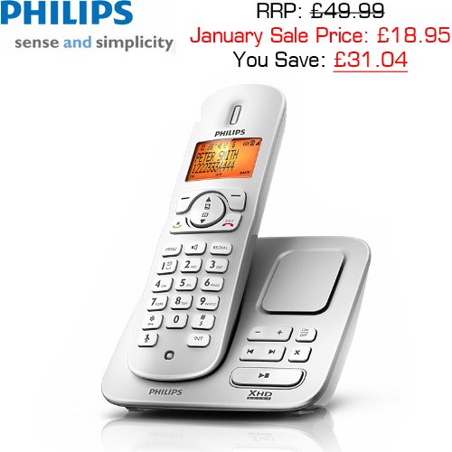 Philips CD2751S/05 Digital DECT Cordless Phone with Answering Machine image