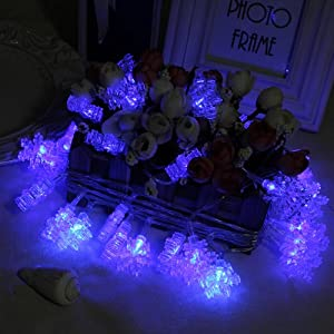 Innoo Tech 4M 40 LED Christmas String Lights Battery Operated Fairy Lights Snowflake for Xmas, Party, Wedding, New Year Decorations(blue)