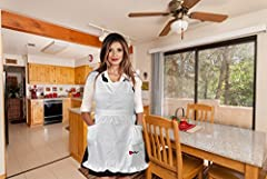 Stylish Kitchen High Quality Adjustable 3 Sizes Kitchen/play Women/girls Bib White Apron (Perfect for Alice in the Wonderland Play, Pinafore, and Mother