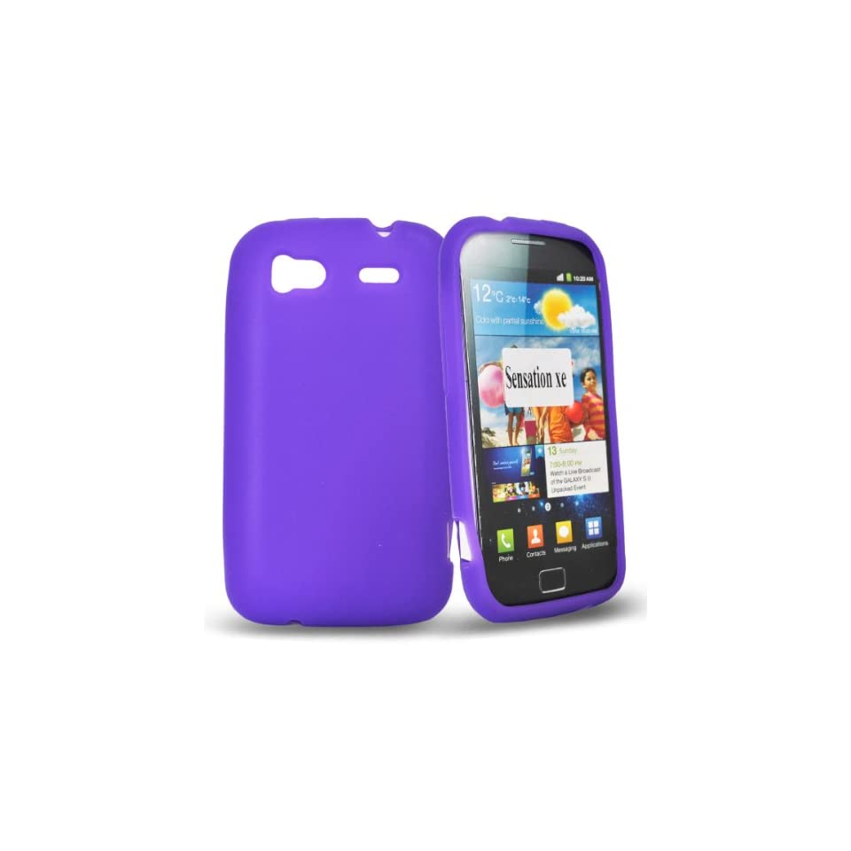 Mobile Palace  Purple silicone case cover for htc sensation xe